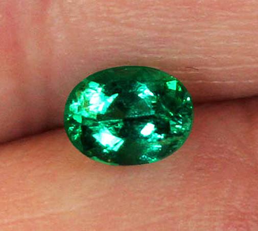 2.37 ct Top Zambian Emerald Certified!