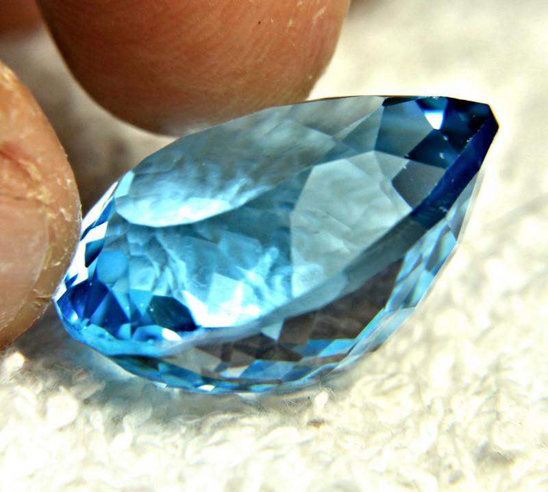 50.45 Carat Blue Brazilian VVS Topaz - Gorgeous