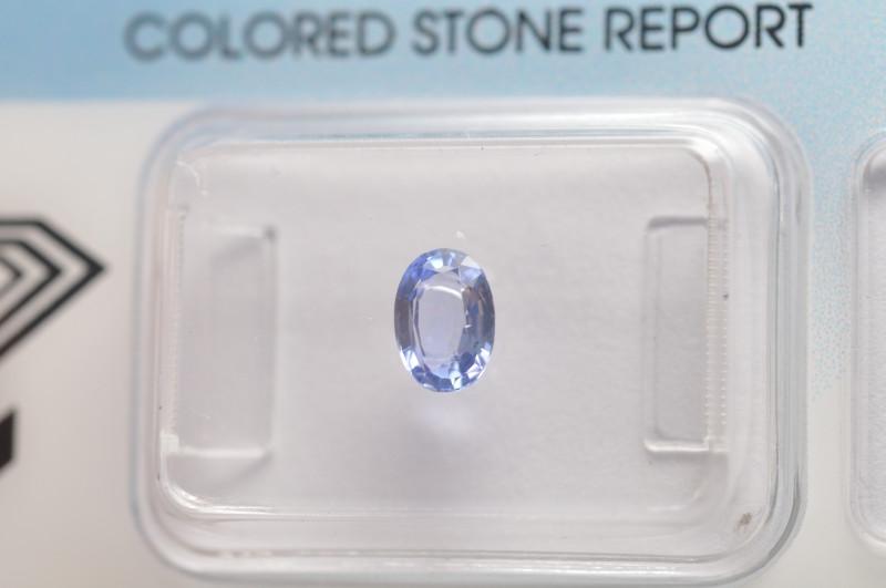 IGI Certificate Blue Sapphire 0.63 ct