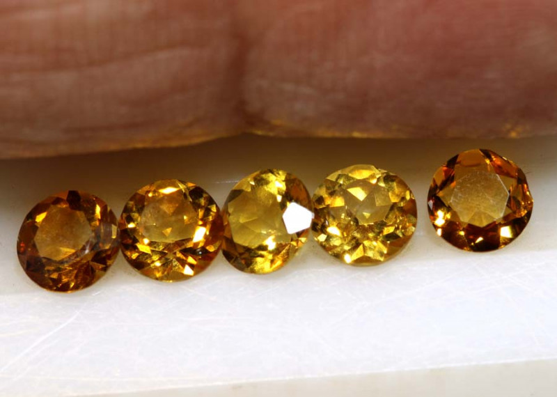 2.10-CTS CITRINE NATURAL FACETED  PARCEL CG-2662