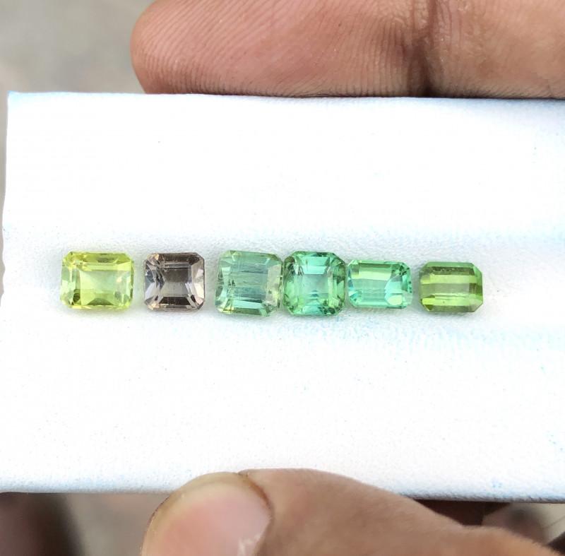 4.90 Ct Natural Greenish Transparent Tourmaline Gems Parcels