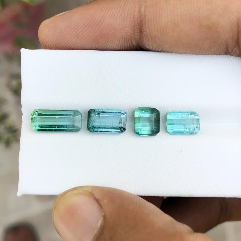 7.05 Ct Natural Bi Color, Green 7 Blue Transparent Tourmaline Gems Parcels