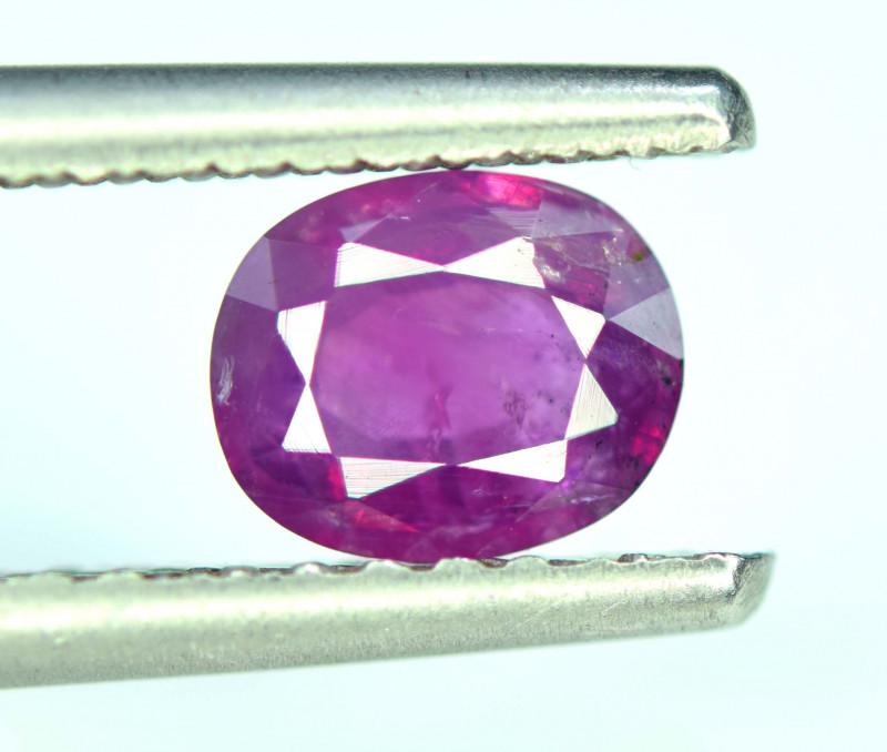 Rare 1.10 Ct Natural Corundum Purplish Pink Sapphire From Kashmir