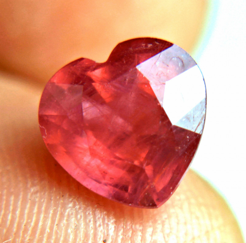 4.32 Carat Hot Red Ruby Heart - Gorgeous