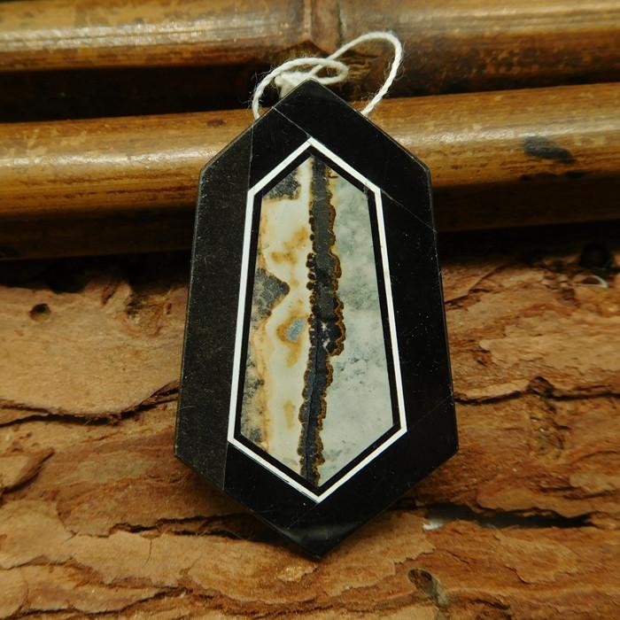 Natural gemstone chohua jasper pendant bead (G0732)