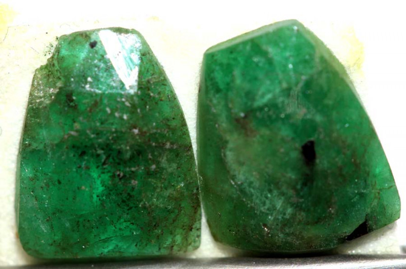 1.75 CTS EMERALD FACETED PAIR ADG-91