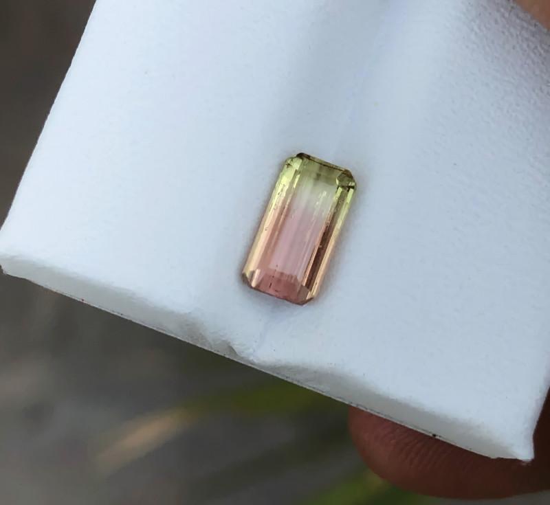 1.30 Ct Natural Bi Color Transparent Tourmaline Gemstone