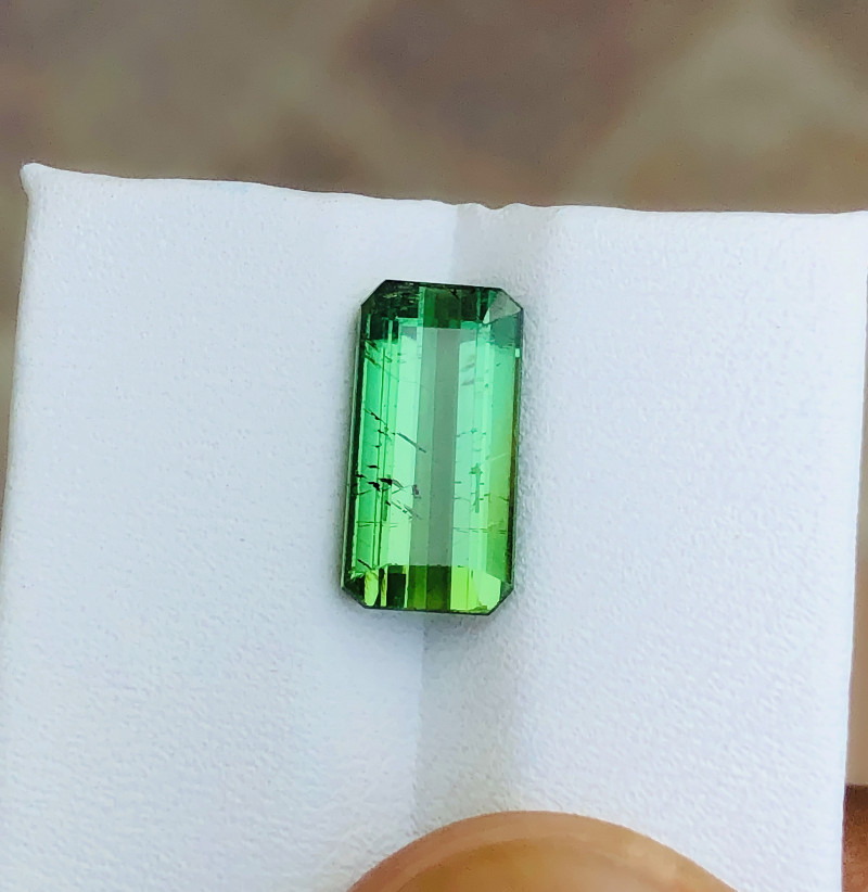 3.70 Ct Natural Greenish Transparent Tourmaline Gemstone