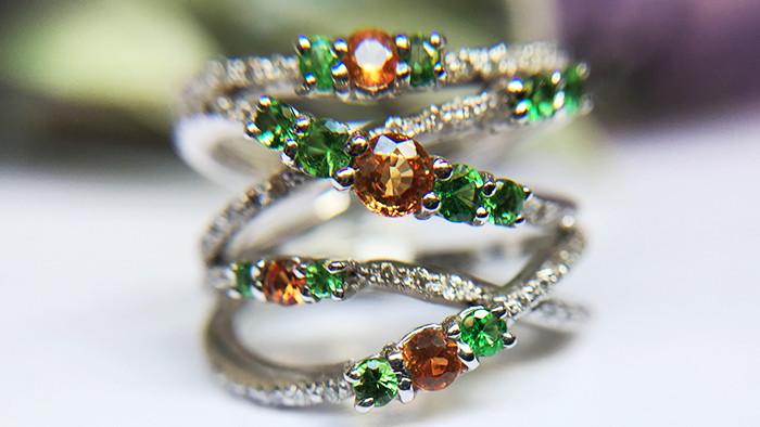 0.70tcw Garnet and Diamond Ring