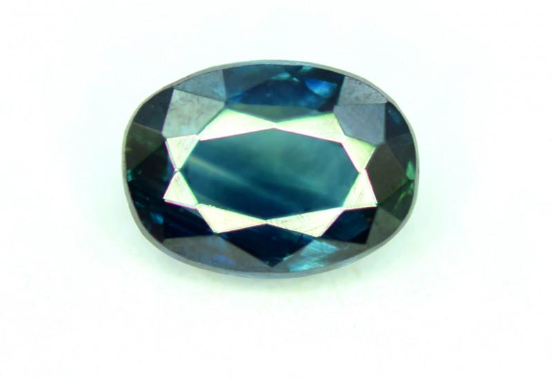 1.10 CT Bi-Color Flawless Parti Sapphire Gemstone Oval Cut