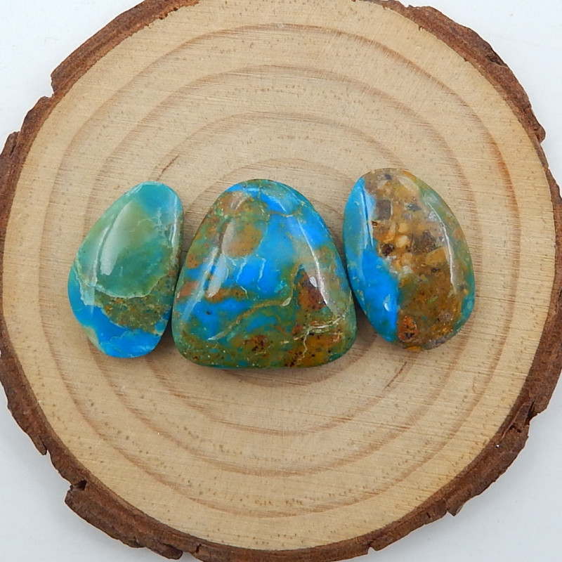 Pure Blue 33.5cts Blue Opal Cabochon, October Birthstone, Blue Opal Bead D2