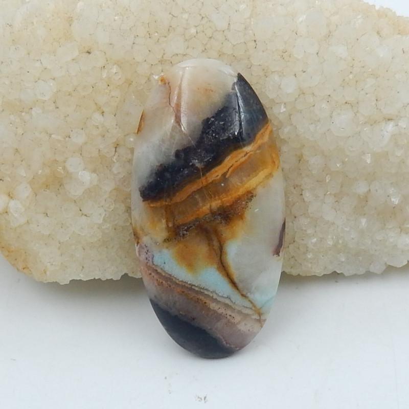 101Ct Natural Amazonite Gemstone Cabochon,Bi Color Amazonite D267