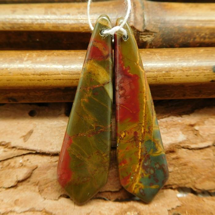 Red creek jasper earring pairs (G0759)