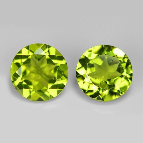 2  Pcs 2.74 Carat Unheated Parrot Green Color natural Peridot Loose Gemston