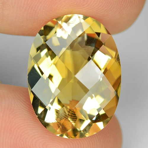 16.97 Cts Fancy Golden Yellow Color Natural Citrine Gemstone