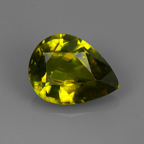 2.75 Cts:Lustrous Vivid Greenish Yellow Hue Natural Sphene!!