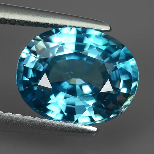 5.10 CTS WONDERFULL OVAL CUT BLUE COLOUR ZIRCON