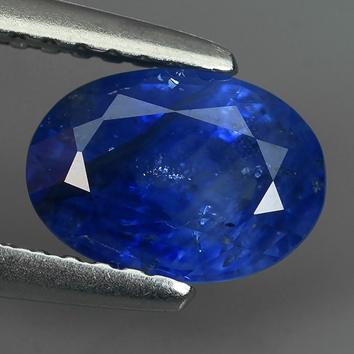 1.60 Cts Natural Intense Beautiful Blue Sapphire Oval Shape From MADAGASCAR