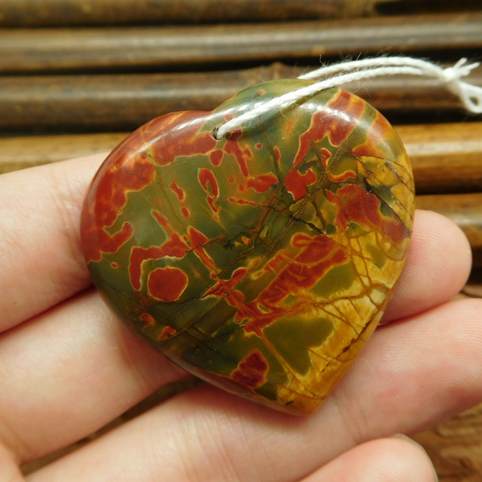 EA694 Picasso jasper pendant stone