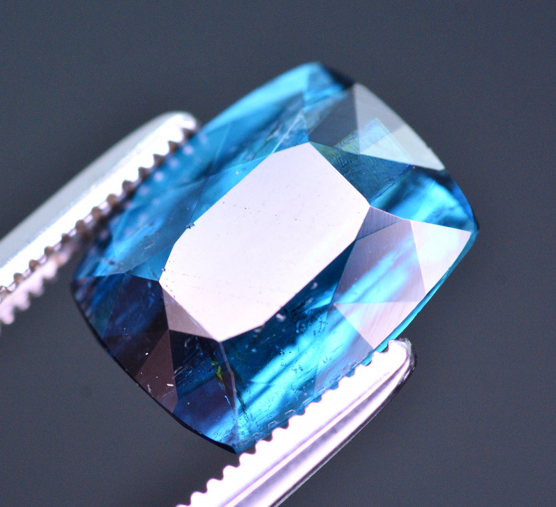 Brilliant Color 3.00 Ct Natural Indicolite Tourmaline From Afghanistan. RA6