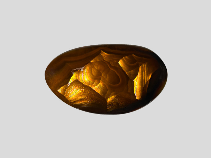 Fire Agate, 9.03ct - Mined in Mexico | Certified by IGI