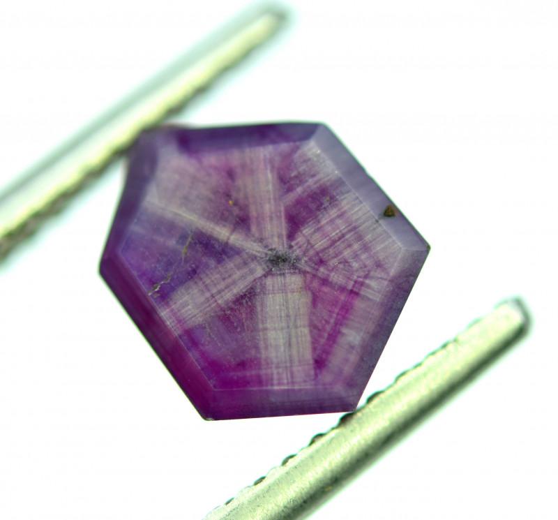 Rarest 4.45 ct Bluish Pink Kashmir Sapphire Trapiche