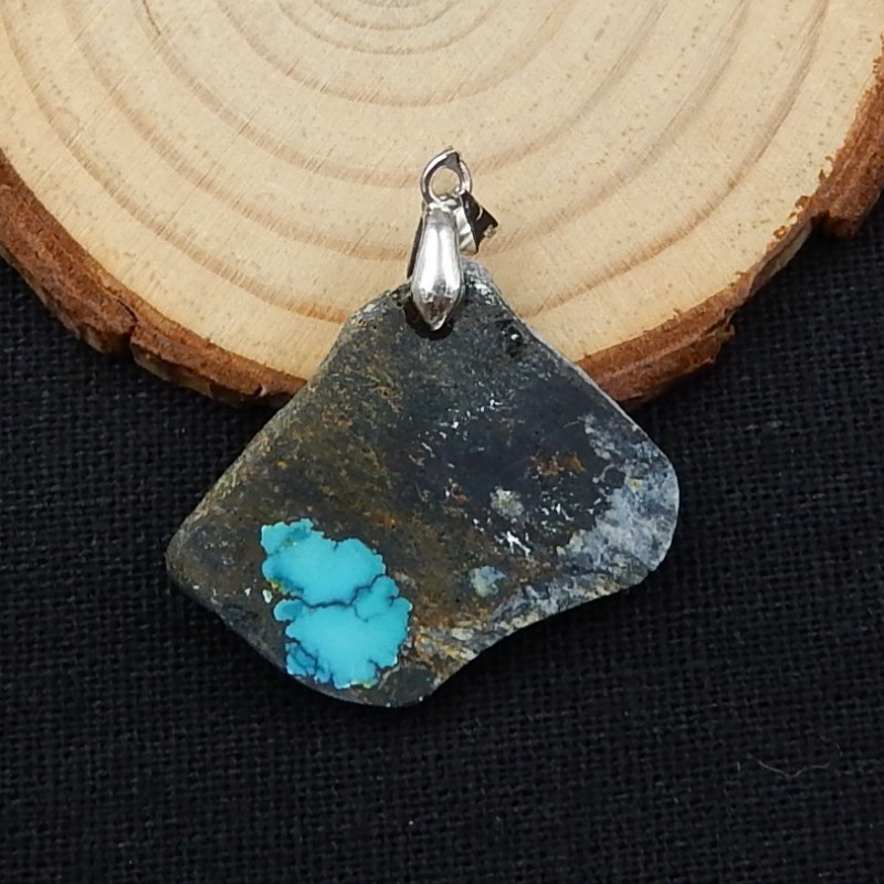 32cts Nugget Turquoise ,Handmade Gemstone ,Turquoise Pendant ,Lucky Stone D