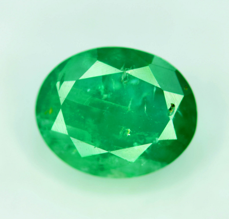 1.95 cts Oval Cut Superb Top Quality Green Color Zambia Emerald Gemstone