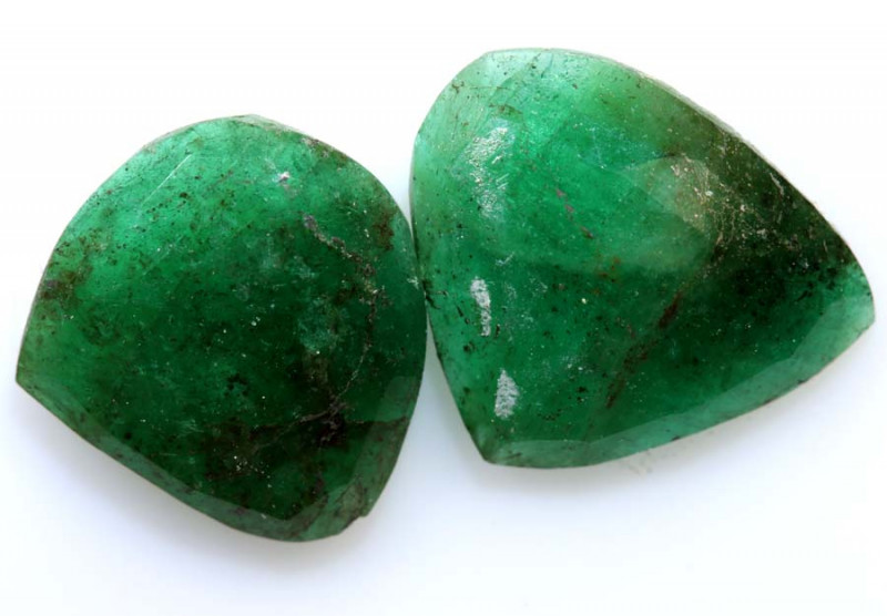 3.58 cts -EMERALD  FACETED  PAIR  ADG-105