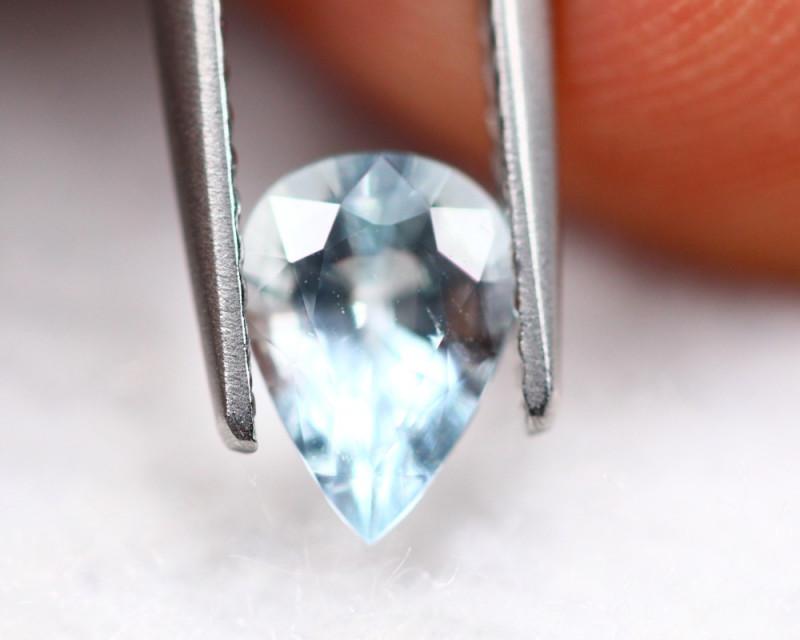 0.75ct Natural Blue Aquamarine Pear Cut Lot V7569
