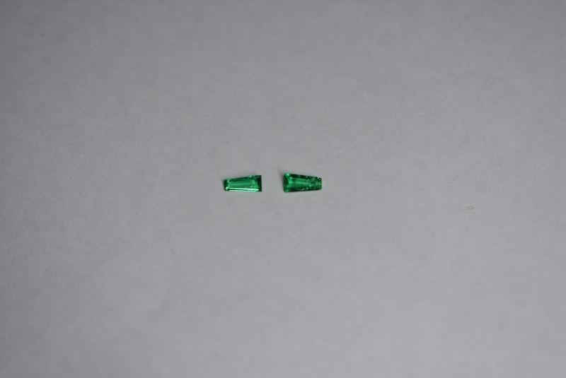 0.35 Carat Panjshir Emerald Pair