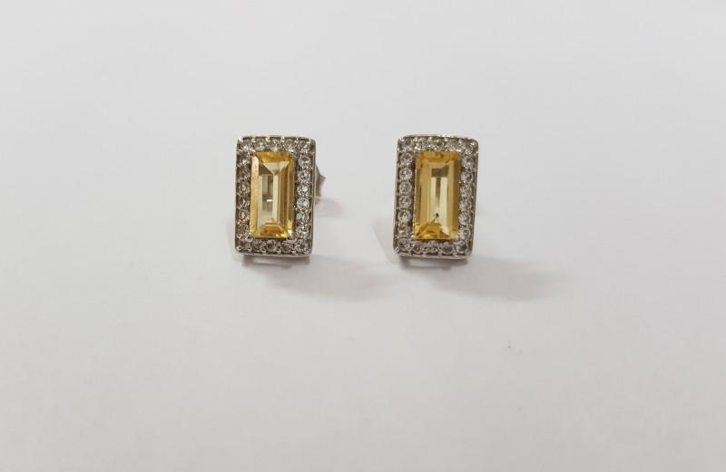 Citrine 925 Sterling silver ring #7767