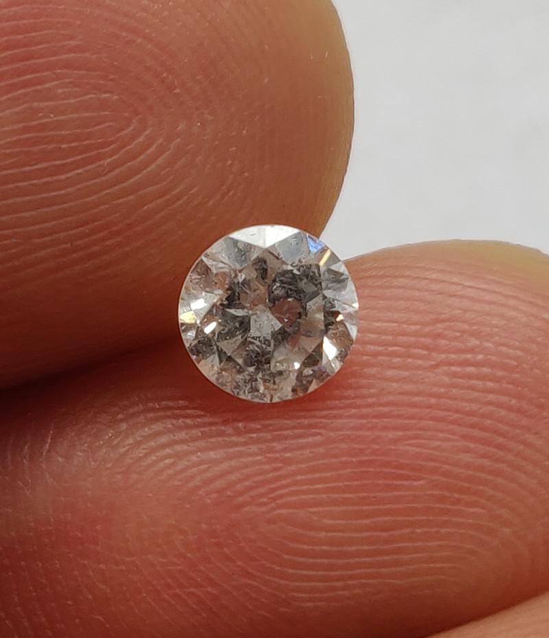 Stunning IGL Certified $3300 Natural 0.61ct. Round White Diamond