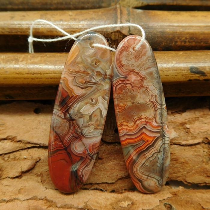 Crazy rosetta agate earring beads (G0809)