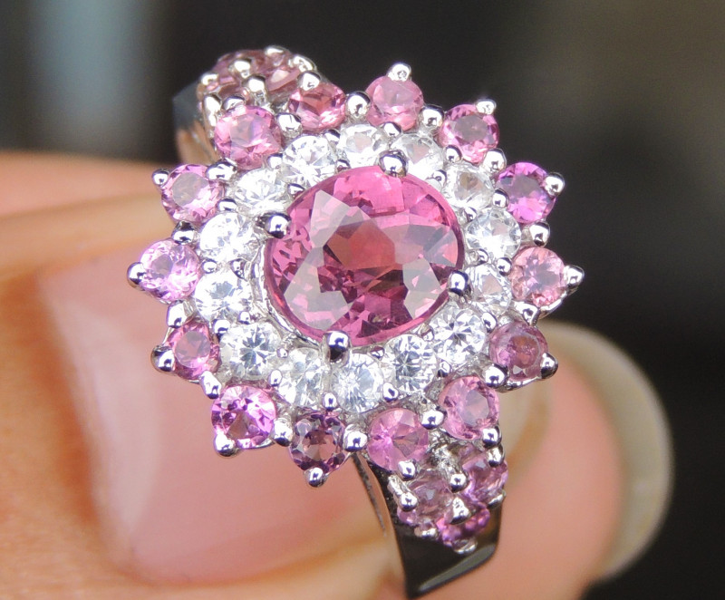 Mehenge Garnet with Pink Tourmaline