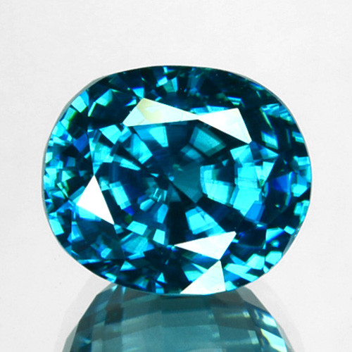 ~SPARKLING~ 6.82 Cts Natural Blue Zircon Oval Cut Cambodia