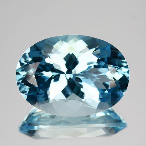 ~RICHEST~ 7.76 Cts Natural Blue Aquamarine Oval Santa maria - Brazil