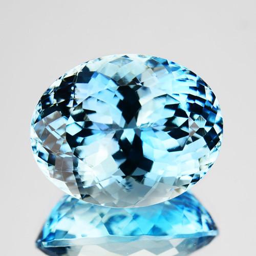 ~RICHEST~ 8.04 Cts Natural Blue Aquamarine Oval Santa maria - Brazil