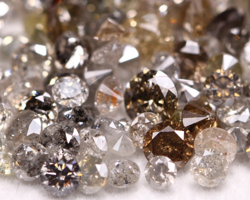 12.80Ct Fancy Salt And Pepper Natural Diamond Auction Lot BM62