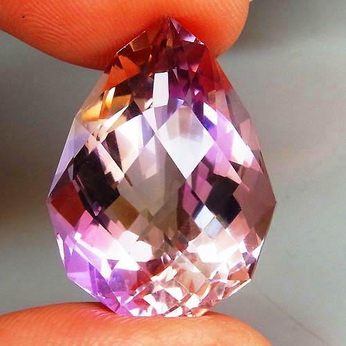 19.82 ct. Natural Top Nice Purple Ametrine Unheated Brazil - IGE Сertified