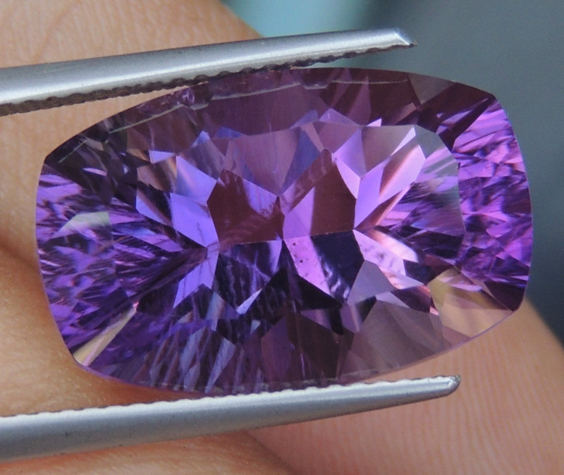 12.67cts, Amethyst,  Top Cut, Clean, Untreated,