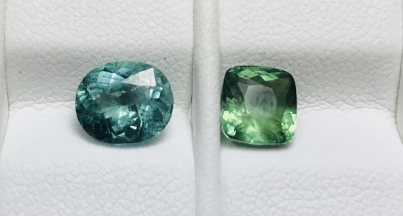 2.60 Carats 2 Pieces Tourmaline Gemstones