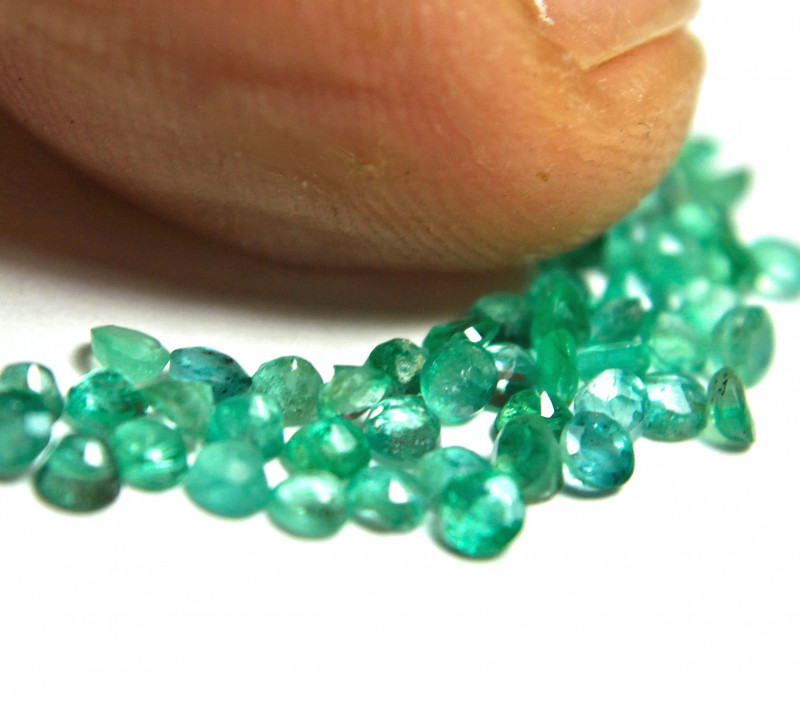 2.35 Tcw. Emerald SI Accent Gems - Lovely