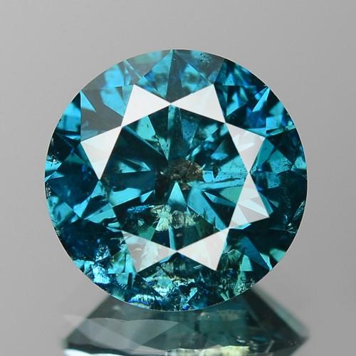 1.73 Cts Sparkling Rare Fancy Intense Blue Color Natural Diamond