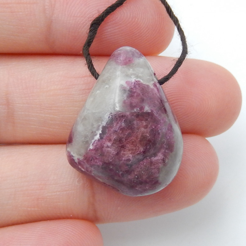33cts Red Ruby Pendant, Ruby bead, Ruby Slices, Rose Cut Slices  D411