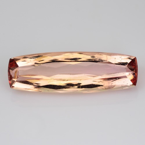 2.24 Cts Natural Imperial Topaz 14 X 5mm Cushion Faceted Brazil Gem