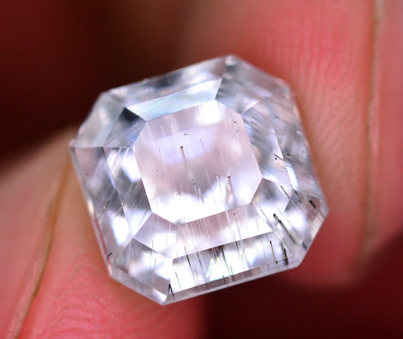 Amazing 5.85 ct Natural Rutile Aquamrine Gemstone