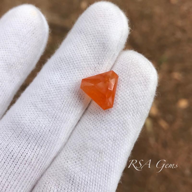 Mandarin Orange Spessartite Garnet - 7.66 carats