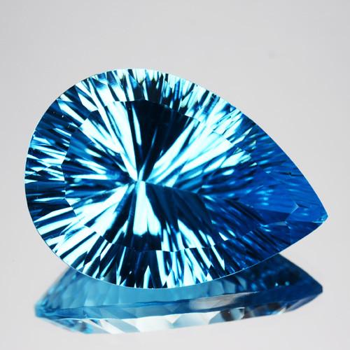 Sky Blue Topaz 45.67 cts Fancy Concave Cut.