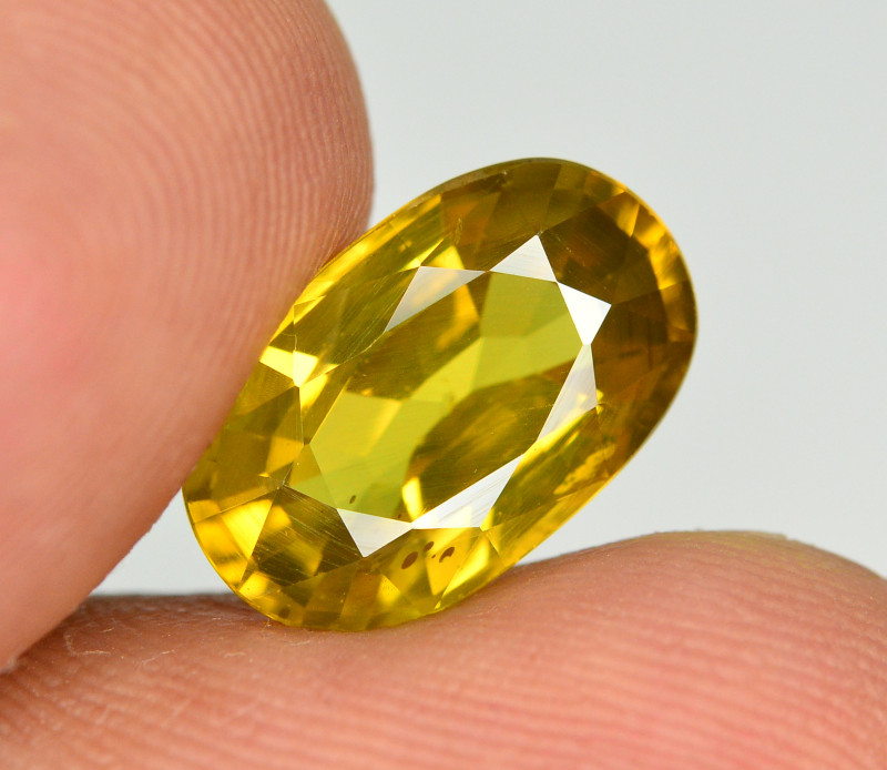 5.20 Ct Gorgeous Color Natural Yellow Zircon